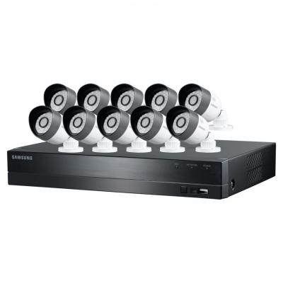 Samsung SDC-C5100 16 Channel HD Security System with 2TB Hard Drive, 10 720P Weatherproof Bullet Cameras and 82' Night Vision 110-220 Volts