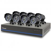 Swann SWHDK-880508-US 8 Channel Security System with 1TB Hard Drive, 8 1MP Cameras, 720P SDI DVR, and 82' Night Vision 110-220 volts