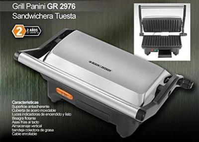 Black & Decker GR2976 Panini Grill Maker, 220V (Non-USA Compliant)