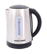 Black & Decker JC400 220V 2200W Electric Kettle, 1.7 L, Stainless Steel for 220-240 Volts 50Hz