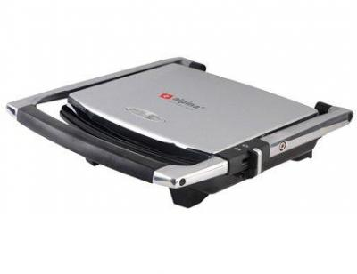 Alpina SF-6021 Panini Press Non Stick Gourmet 4 Sandwich Maker Stainless Steel Body, 220Volt (Not for USA)