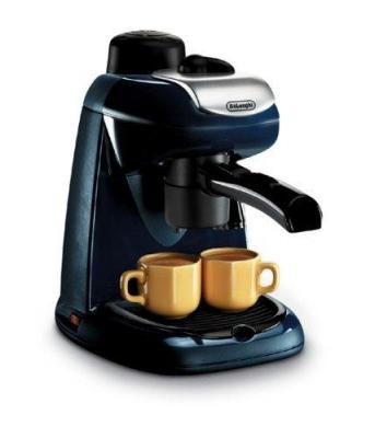 Delonghi EC7 4-Cup Cappuccino and Coffee Maker, Black for  220-Volts