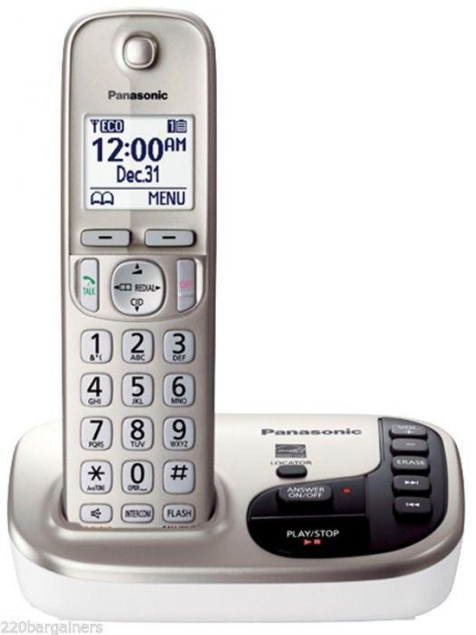 Panasonic KX-TGD220 CordlessPhone Dual Voltage for 110 220 ...
