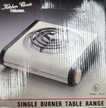 Tristar 30116 single burner table range for 220 Volts