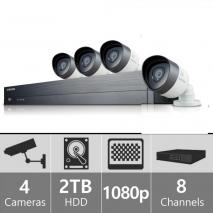 Samsung SDH-C74040 - 8 Channel 1080p HD 2TB Security System with 4 Cameras 110-220 volts