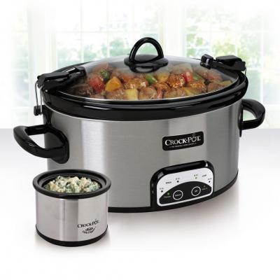 Crock Pot 6 Quart Travel and Serve with Little Dipper Warmer 110 Volts USA