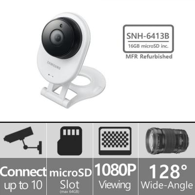 Samsung SNH-E6413BMR - HD WiFi IP Camera with 16GB microSD Card (Refurbished)