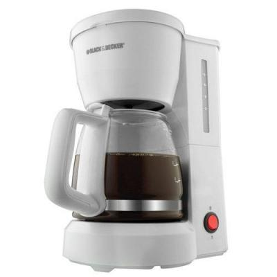 Black & Decker DCM600W 5-Cup Drip Coffeemaker with Glass Carafe, White 110 VOLTS ONLY FOR USA.