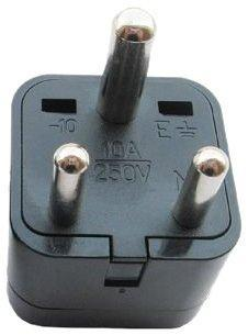 Ckitze 3-Round Universal USA to India Africa Grounded International Travel Plug Adapter