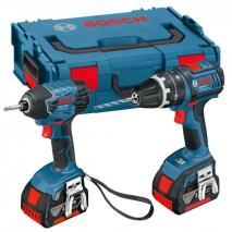 Bosch 0615990FN4 18 V Professional Cordless Twin Kit (includes 2 x 4.0 Ah Lithium Ion CoolPack Batteries) 220 VOLTS 50 hZ NOT FOR USA