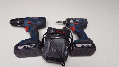 Bosch 18 V Professional Cordless Twin Kit (includes 2 x 4.0 Ah Lithium Ion CoolPack Batteries) 220 volts 50 Hz NOT FOR USA