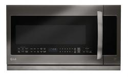 LG LMHM2237BD 2.2 Cu.Ft. Black Stainless Steel Over The Range Microwave Oven FACTORY REFURBISHED (FOR USA)