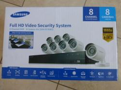 Samsung SDH-B74081 8 Channel 1080 Full HD HD 1TB Video Security System with 8 Outdoor Cameras for 110 - 220 Volts