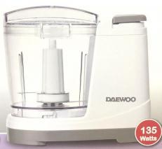 Daewoo DFP-415M 3-Cups 135 Watts Mini Food Chopper, 220 Volts (Not for USA)