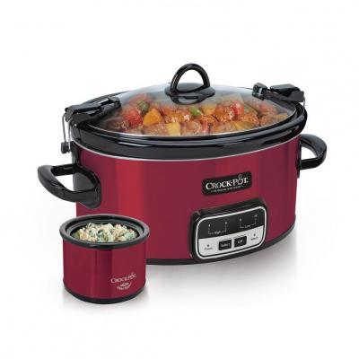 Crock-Pot SCCPVLR609-R 6-Quart Cook and Carry Slow Cooker with Little Dipper Warmer (Assorted Colors) 110 volts ONLY FOR USA