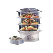 Russell Hobbs 21140 Three Tier Food Steamer, 9 L, 800 W - White 220 VOLT NOT FOR USA