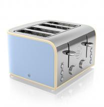 Swan ST17010BLN 4-Slice Retro Toaster, 1600 Watt 220 VOLT NOT FOR USA