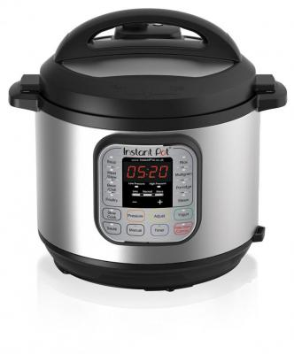 Instant Pot Duo IP-DUO60-220 7-in-1 Electric Pressure Cooker, 6 Litre, 1000 W, Brushed Stainless Steel/Black for 220 Volts(Not For USA)