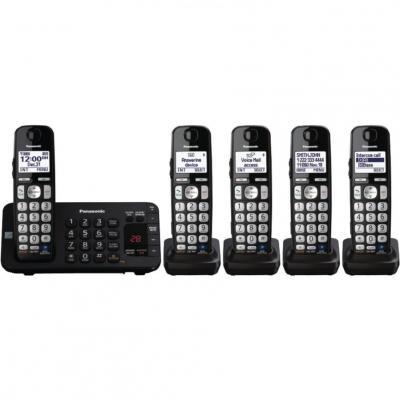 Panasonic KX-TGE245B dect_6.0 5-Handset Landline Telephone 110-220 Volt 50/60Hz