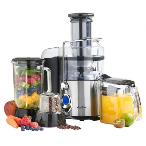 220 Volt Kitchen Appliances Part - 39: VONSHEF 13187 220 VOLTS 3-IN-1 JUICER, BLENDER, U0026 GRINDER | 800 WATTS, 5  SPEED, 220 240 VOLT NOT FOR USA