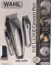 Wahl 79305-3658 Deluxe Groom Pro 21 Piece Complete Hair Clipper Cutting Kit, 220 Volts NOT FOR USA