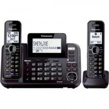 Panasonic KX-TG9542B Link2Cell Bluetooth Enabled 2-Line Phone with Answering Machine & 2 Cordless Handset w/ 110/220v Adaptor
