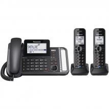 Panasonic KX-TG9582B Link2Cell DECT_6.0 2-Handset 2-Line Digital Cordless Phone 220V NOT FOR USA