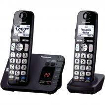 Panasonic KX-TGE232B Cordless Phone, 2 Handsets -110-220 VOLTS