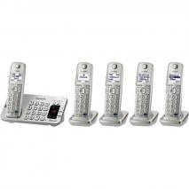 Panasonic KX-TGE275S 5-Cordless Handsets Link2Cell Bluetooth Corldess Phone with Answering Machine for 220-240 VOLTS 50/60 HZ