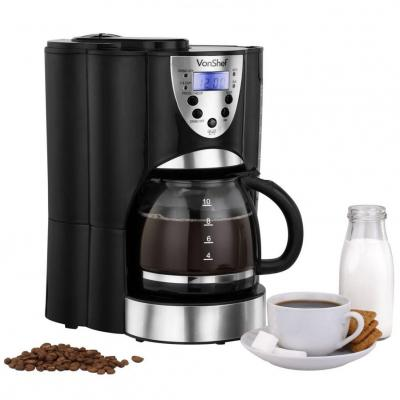 VonShef  13163 Digital Programmable Coffee Maker with Built-in Grinder 220-Volt NOT FOR USA
