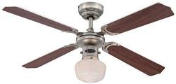 Westinghouse 7826640 Ceiling Fans with Single Portland Ambience Light Fixture and Opal Glass [Energy Class A+] 220 VOLTS NOT FOR USA