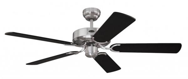 westinghouse 7837040 cyclone 132 cm 52 inches ceiling fans brushed steel black black wi. Black Bedroom Furniture Sets. Home Design Ideas