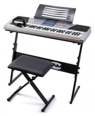 RockJam RJ661 61 Key Electronic Interactive Teaching Piano Keyboard with Stand, Stool and Headphones 220 VOLTS NOT FOR USA