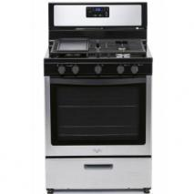 Whirlpool 3LWF7550S 5 Burner Gas Range with Griddle 220-volts. NOT FOR USA