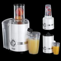 Russell Hobbs 22700  3-in-1 Juicer, Press and Blender - White 220 volts NOT FOR USA