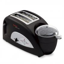 Tefal TT550015 Toast and Egg Two Slice Toaster and Egg Maker, 1200 W - Black 220 VOLTS NOT FOR USA