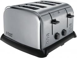 Russell Hobbs 22370 Wide Slot 4-Slice Toaster - Stainless Steel and Silver 220 VOLTS NOT FOR USA
