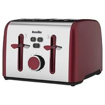 Breville VTT628 Colour Notes 4 Slice Toaster - Red 220 VOLTS NOT FOR USA