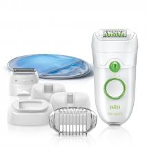 Braun Silk-Epil 5 Power 5780 Epilator with 7 Extras Including a Shaver Head and a Trimmer Cap 220 VOLTS NOT FOR USA