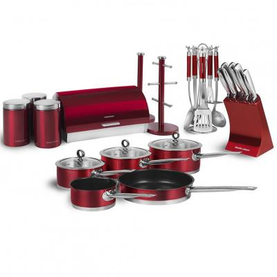 Morphy Richards RMLBUNDLE Accents Kitchen Set, Red, 21-Piece