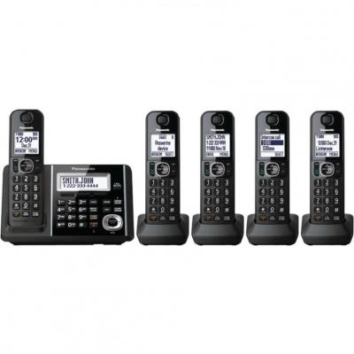 Panasonic Expandable KX-TGF345B Cordless Phone with Answering Machine - 5 Handsets 220 Volts NOT FOR USA