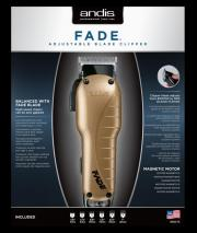Andis 66375 Fade Adjustable Blade Hair Clipper 220 VOLTS NOT FOR USA