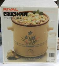 Vintage B072WJPCK8 RIVAL 3150 3.5QT CROCKPOT SLOWCOOKER 220 VOLTS AND NOT FOR USA
