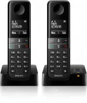 Philips D4552B/38 Cordless telephone with answering machine, HQ sound, handset with hands-free kit) black 220 VOLTS NOT FOR USA