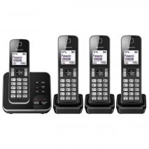 Panasonic KX-TGD324EB Cordless Home Phone  - Pack of 4 220 VOLTS NOT FOR USA