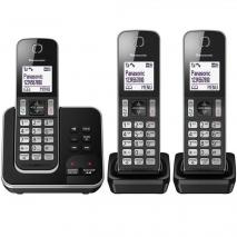 Panasonic KX-TGD323EB Cordless Home Phone - Pack of 3 220 VOLTS NOT FOR USA