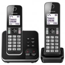 Panasonic KX-TGD322EB Cordless Home Phone - Pack of 2, 220 VOLTS NOT FOR USA