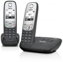 SIEMENS Gigaset A415 DECT Cordless Phone 2 head set – Black 220 Volts NOT FOR USA
