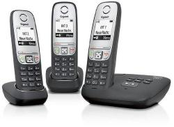 SIEMENS Gigaset A415A Trio Cordless Phone – Black 220 Volts NOT FOR USA