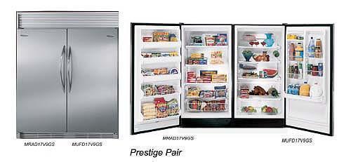 electrolux freezer frigidaire by electrolux prestige pair freezer